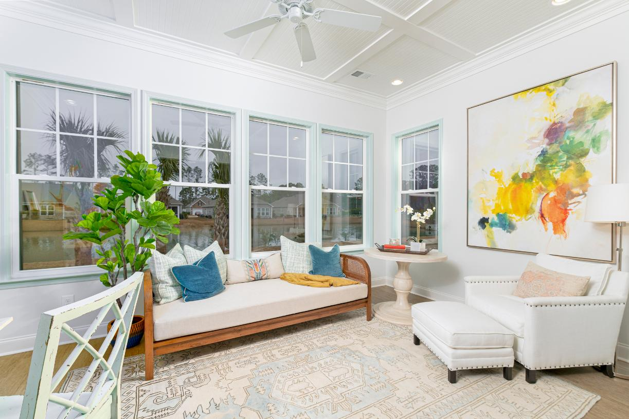 Optional sunrooms for additional living space