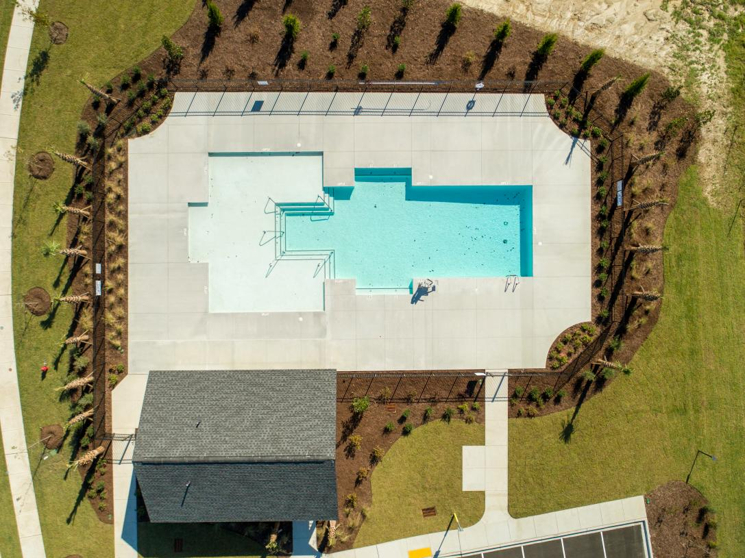 Aerial View of the Community Pool
