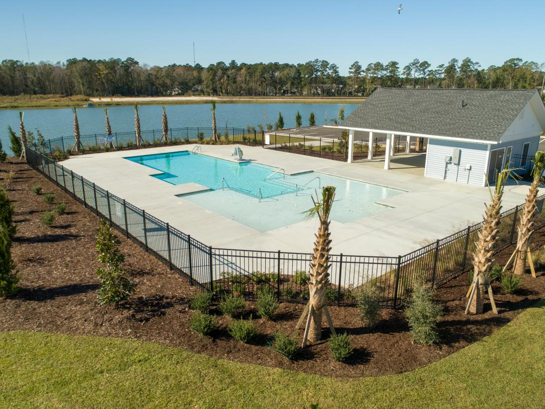 Community Pool with Views of the Pond