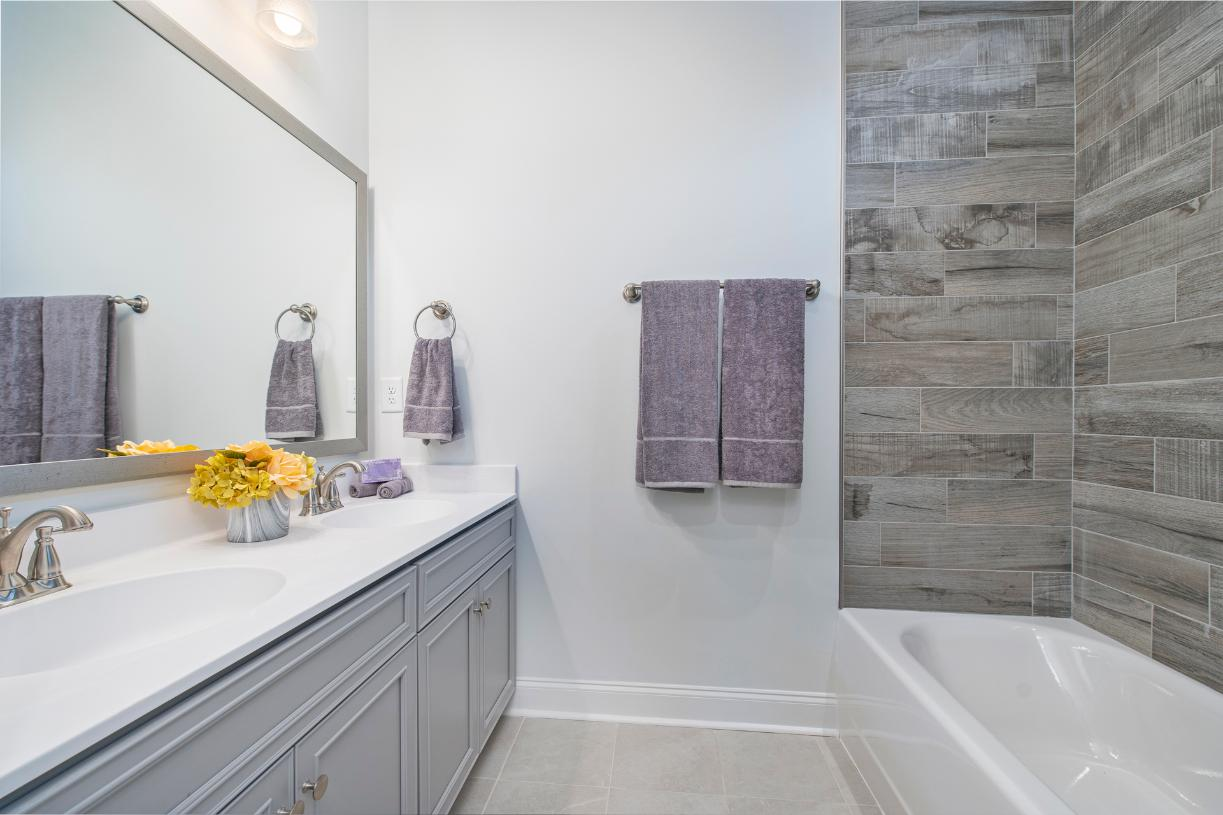 Lavish primary bathroom for relaxation