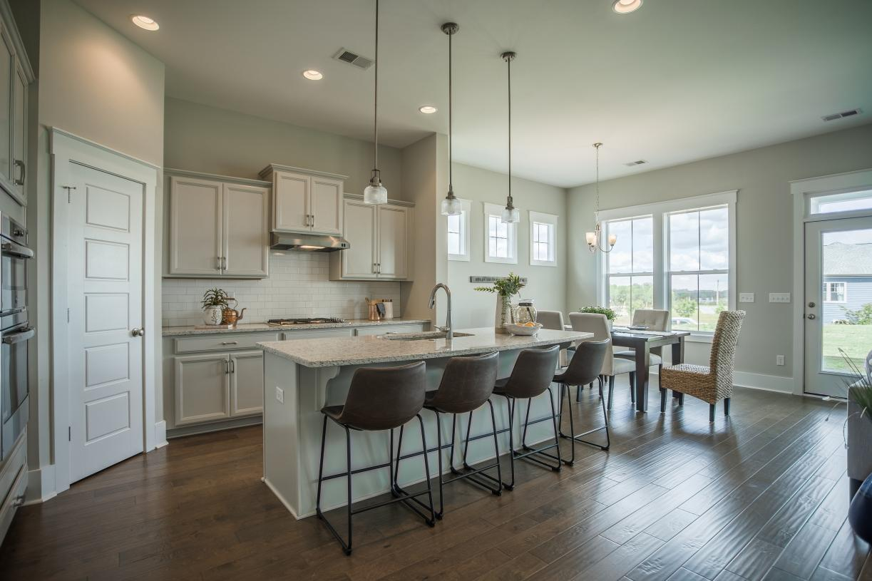 Kitchens with large center islands for casual dining
