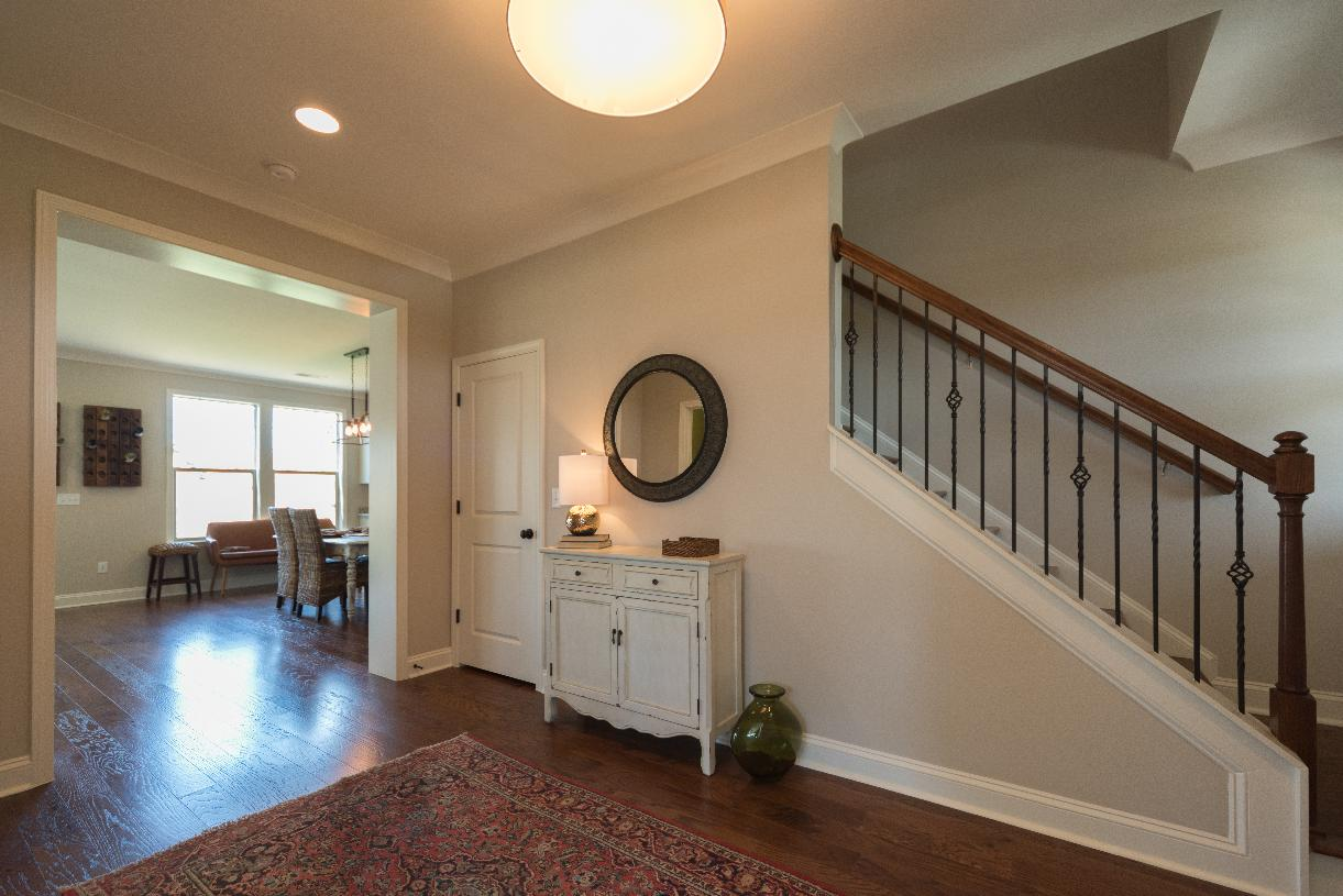 Spacious foyer with views of the great room beyond