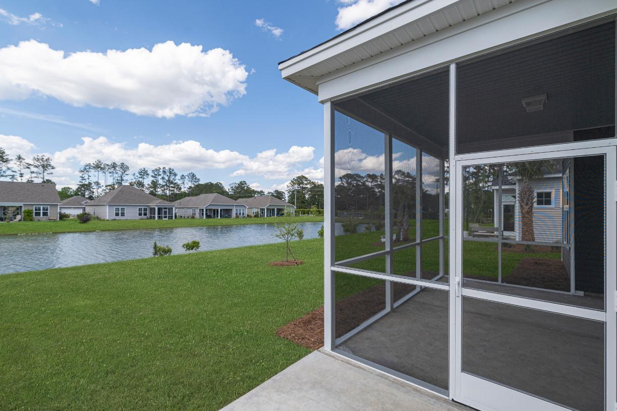 Optional screened in porches for outdoor living and entertaining