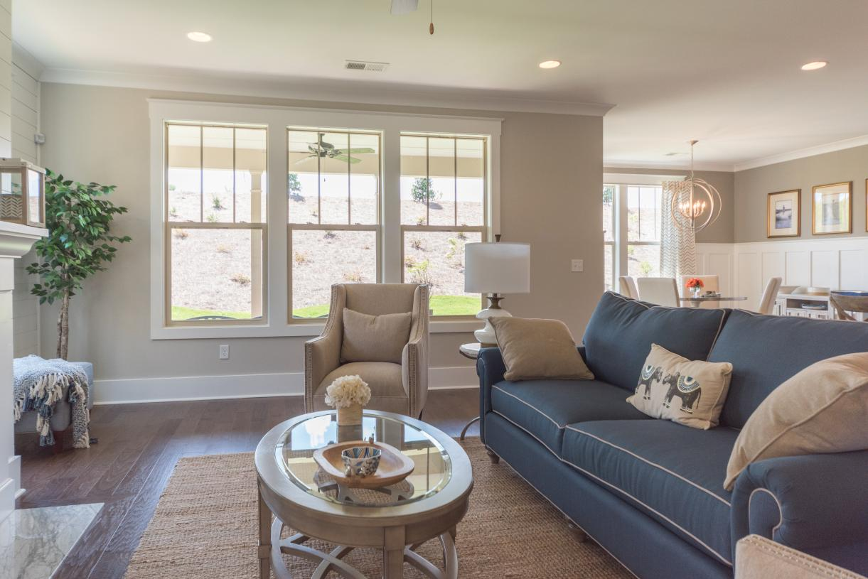 Open concept floor plans with ample natural light