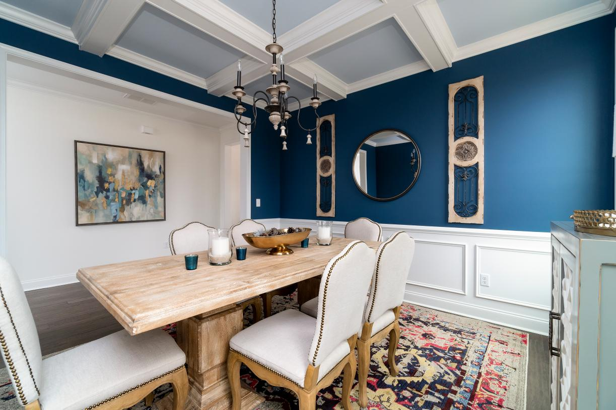 Versatile formal dining rooms for entertainment