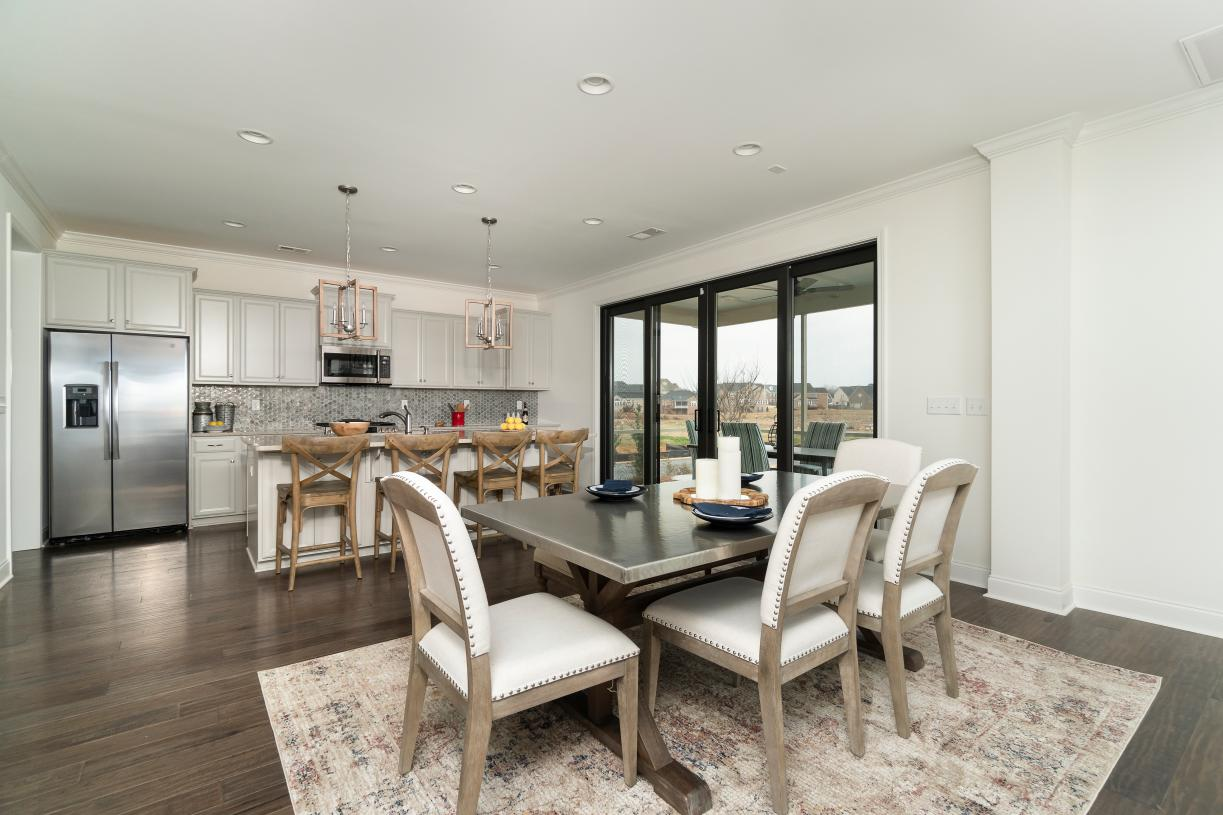 Open concept floors plans with views of outdoor living