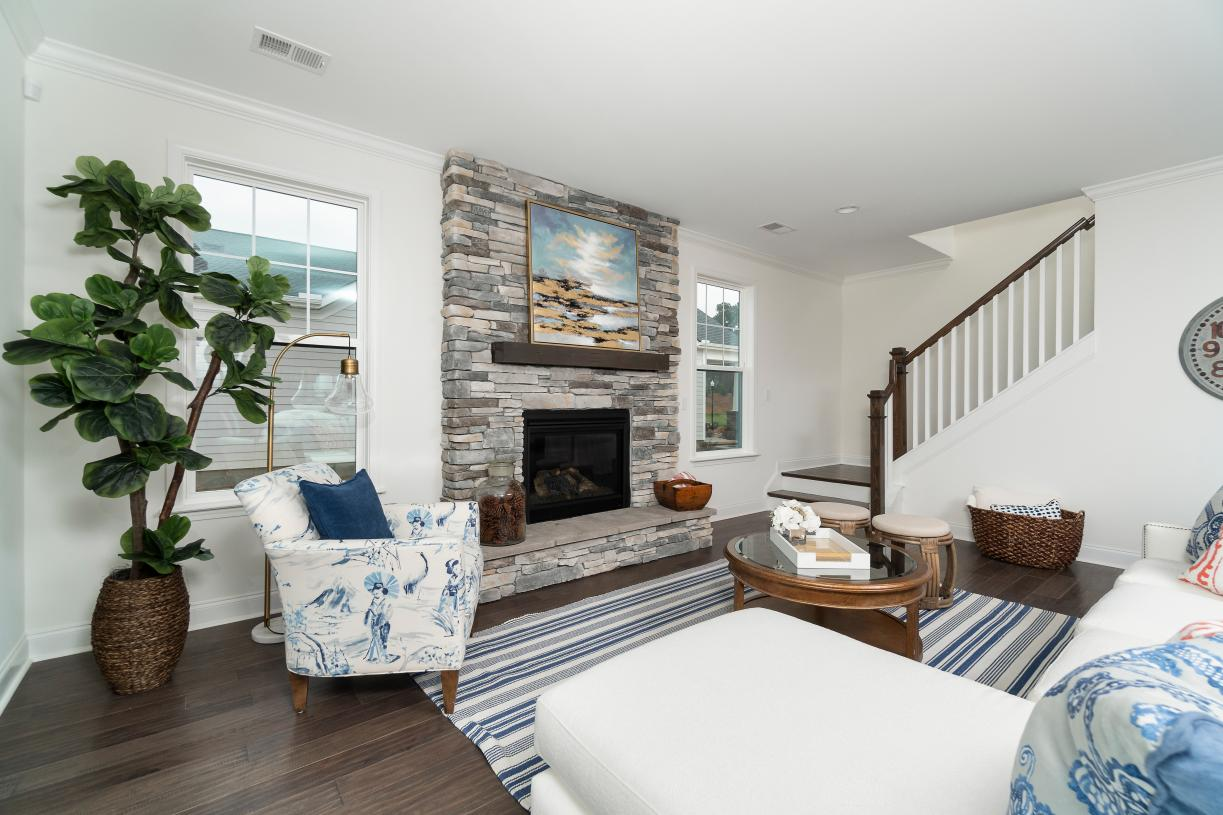 Cozy great rooms with beautiful optional fireplaces