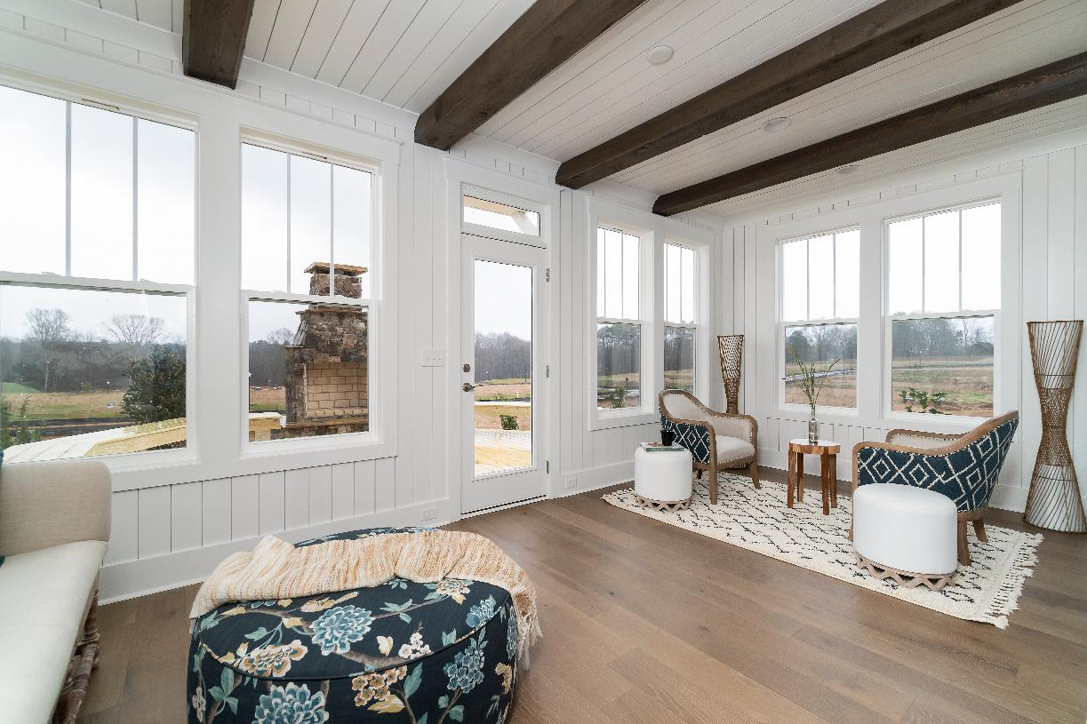 Optional sunrooms for additional living and relaxation
