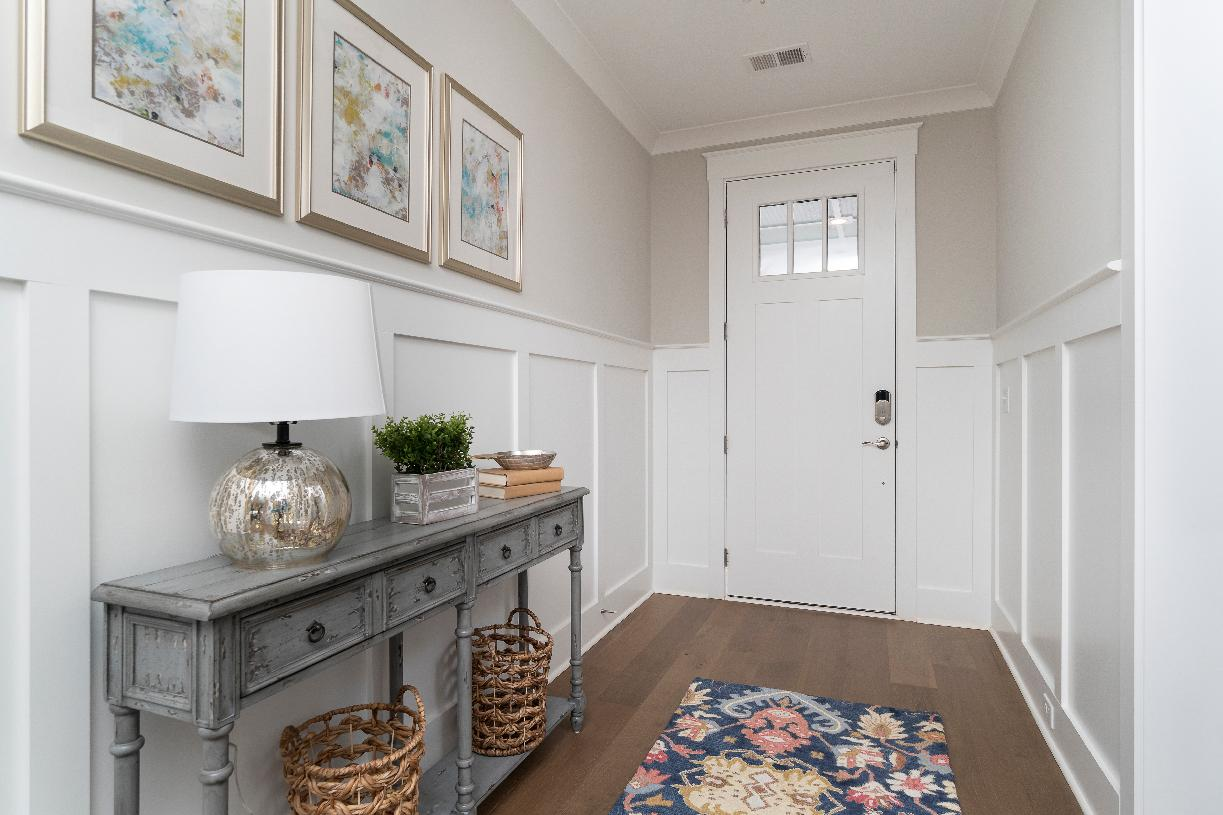 Spacious foyers with beautiful accents