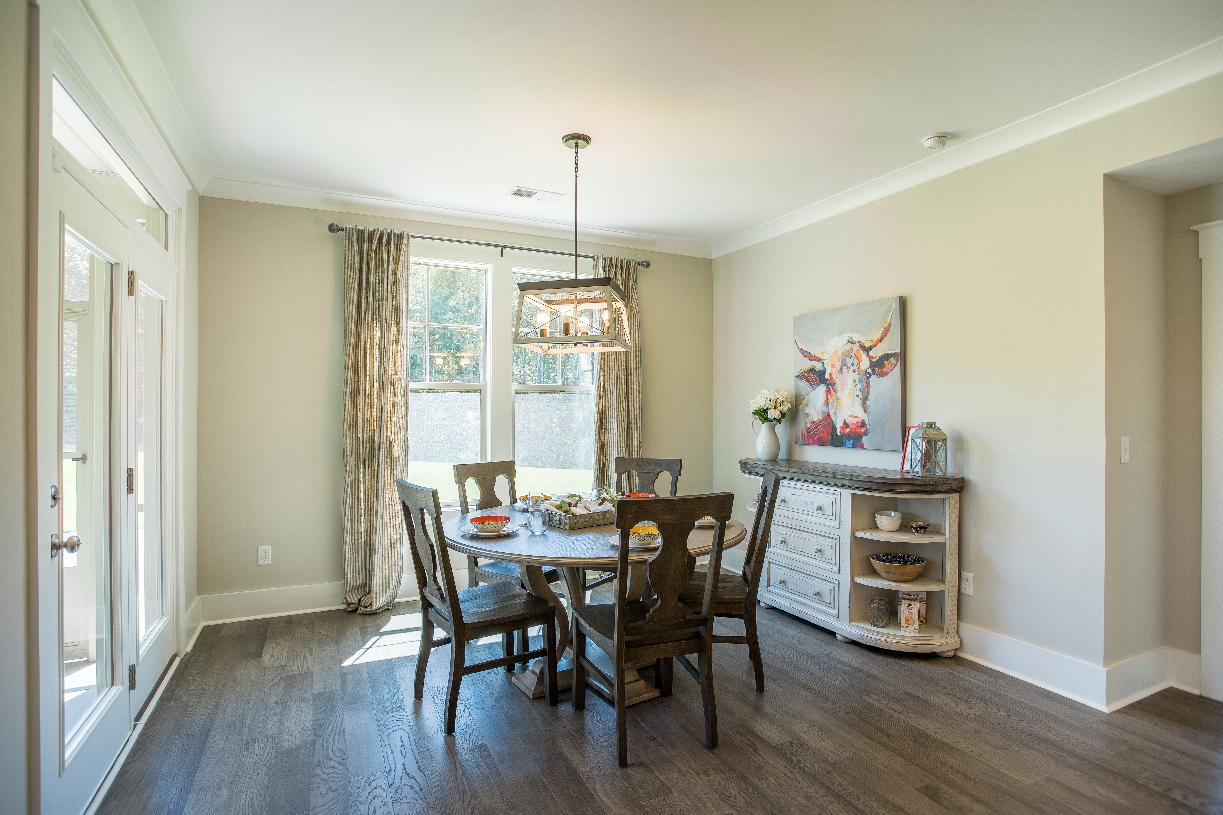 Casual dining space adjacent to the kitchens