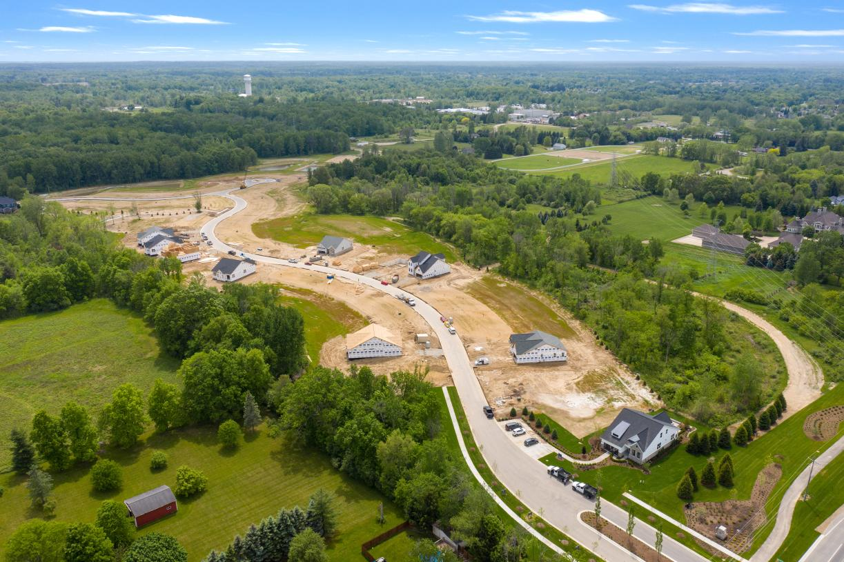 Beautiful home sites available in a private wooded enclave