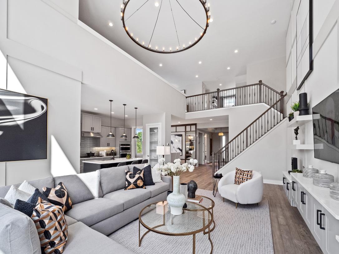 Gorgeous, open-concept living levels