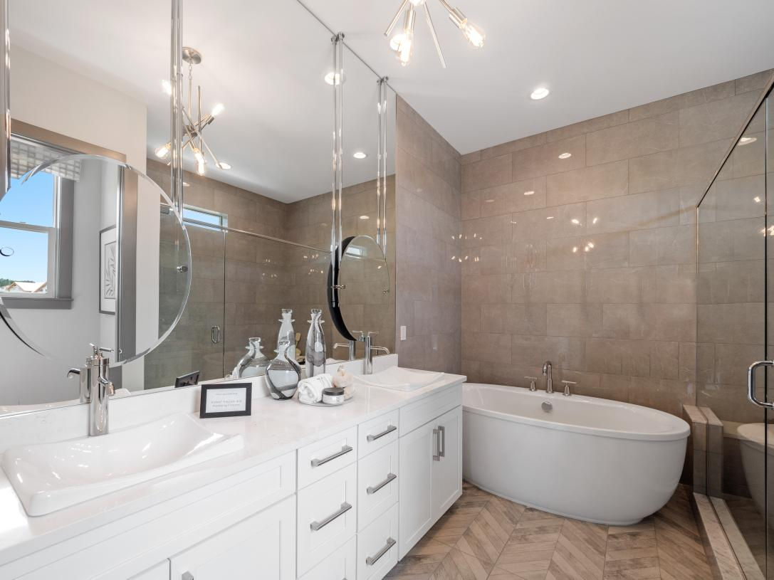 Primary bath shown with Luxurious Primary Bath Package