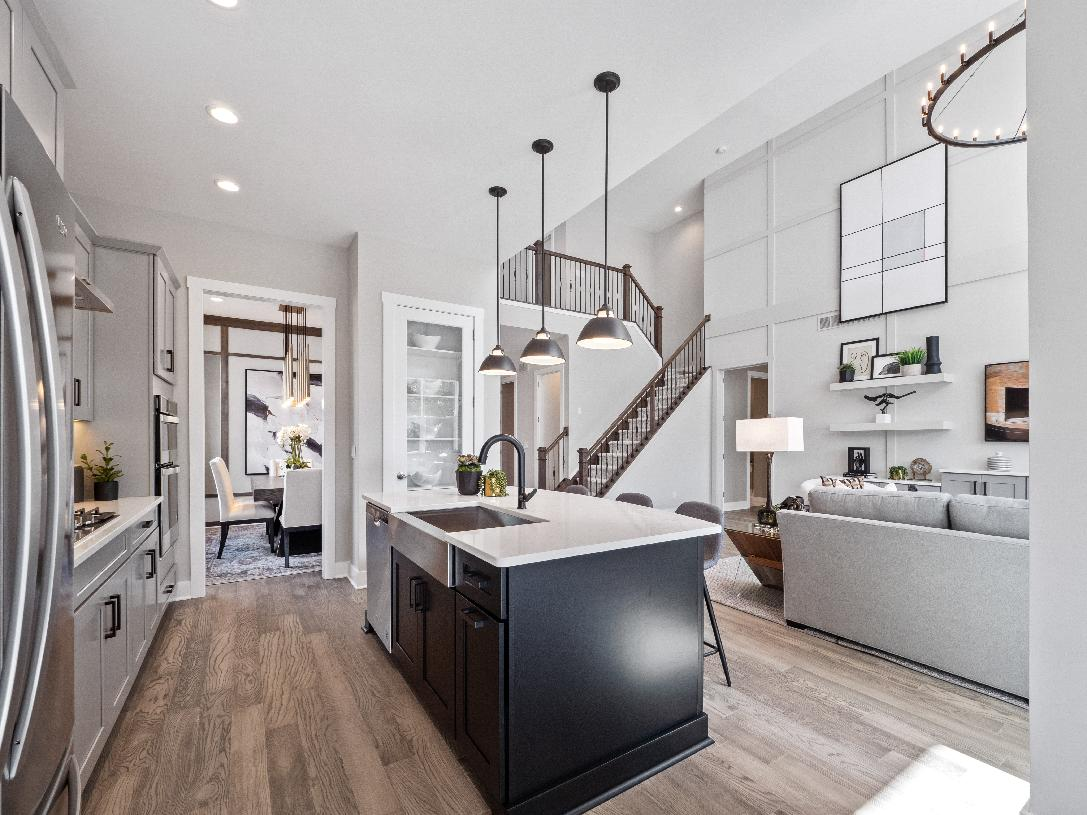 Open-concept living level
