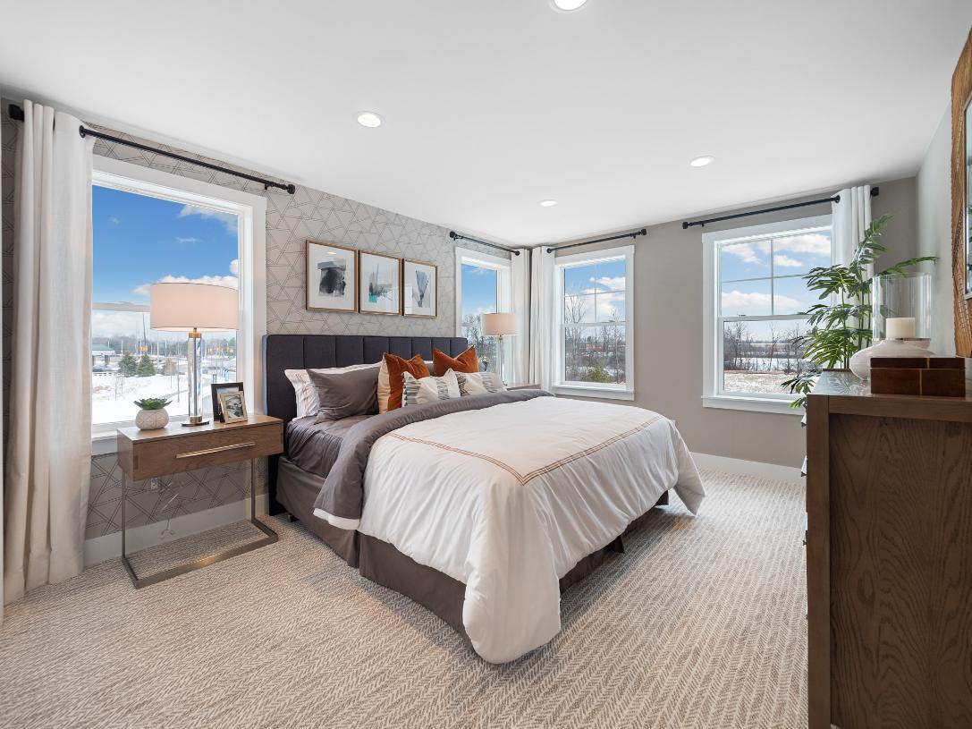 Spacious loft bedroom
