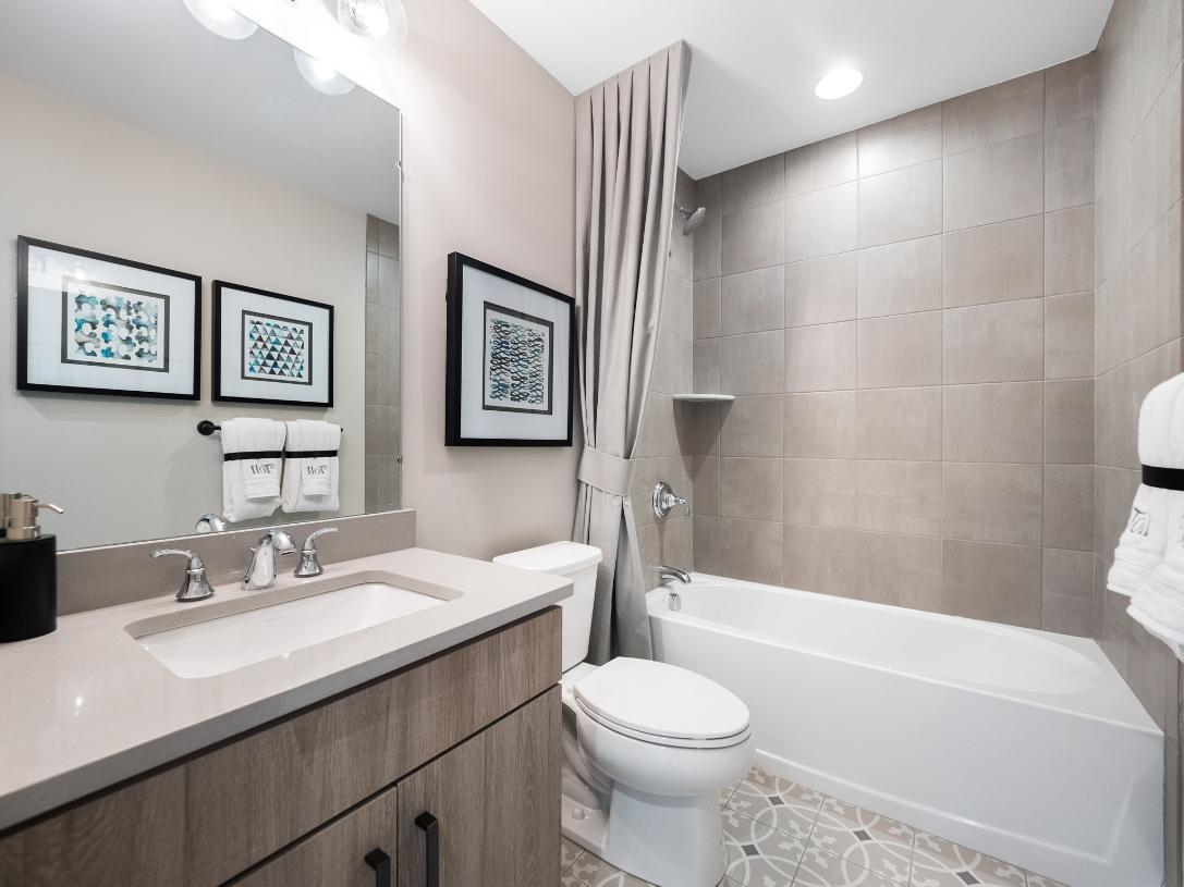 Full loft hall bathroom
