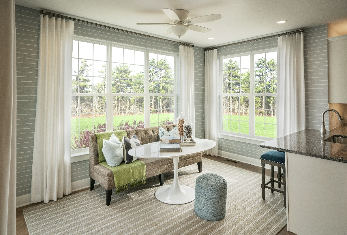 Optional sunroom in some home designs