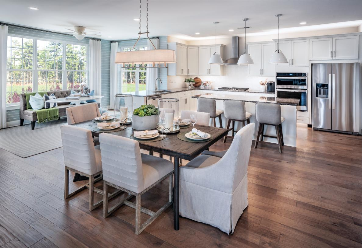 Casual dining area opens to kitchen