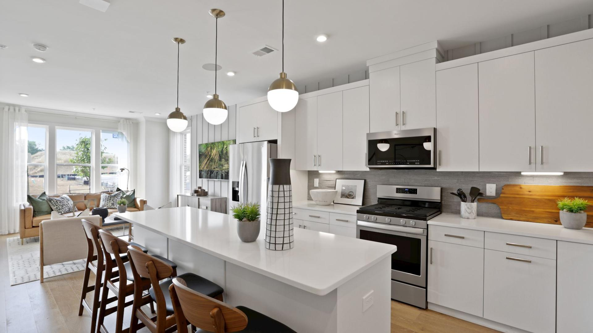 Open-concept kitchen and great room