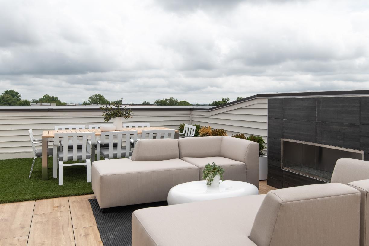 Fun rooftop terrace