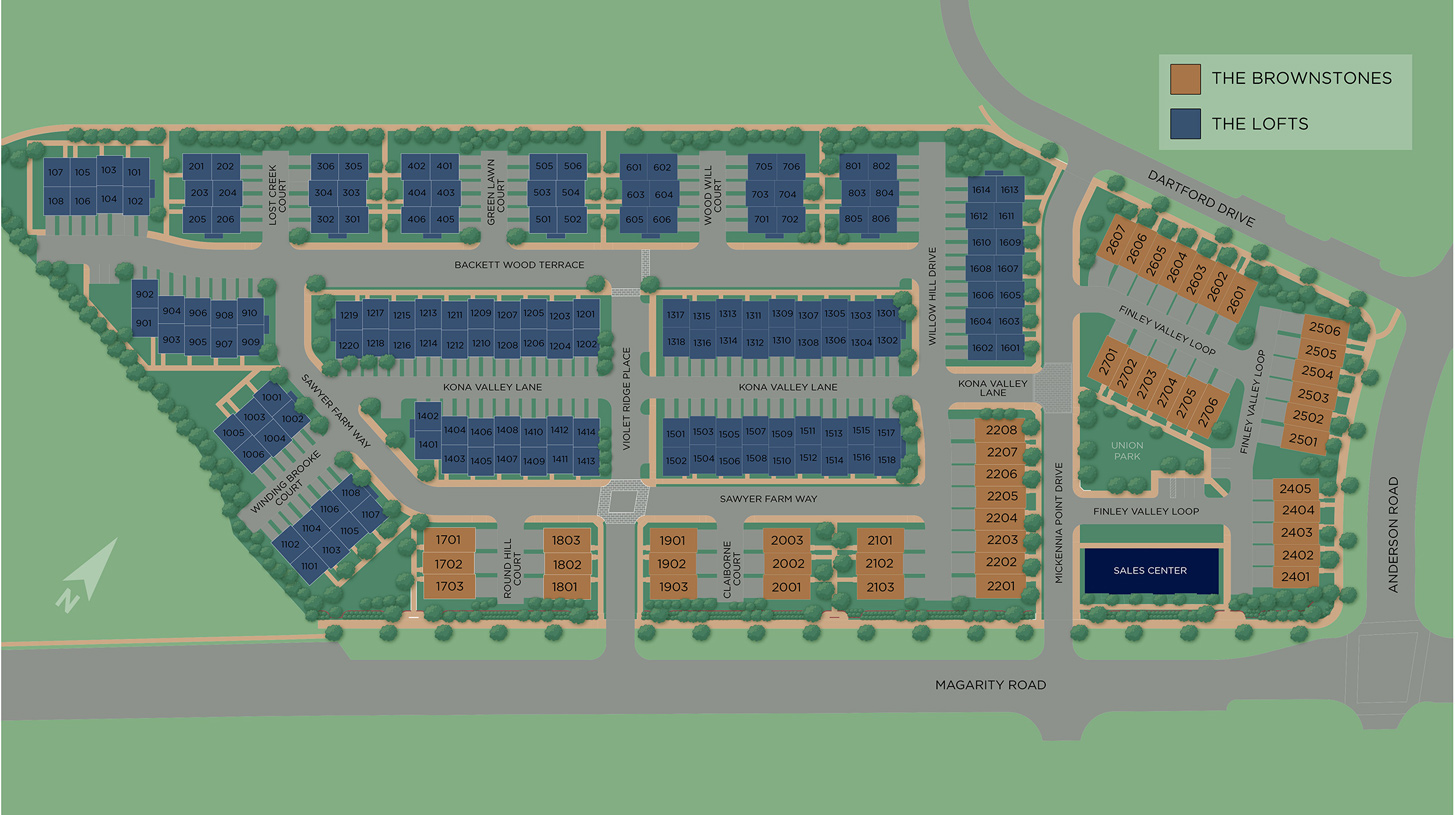 Union Park at McLean - The Brownstones Overall Site Plan