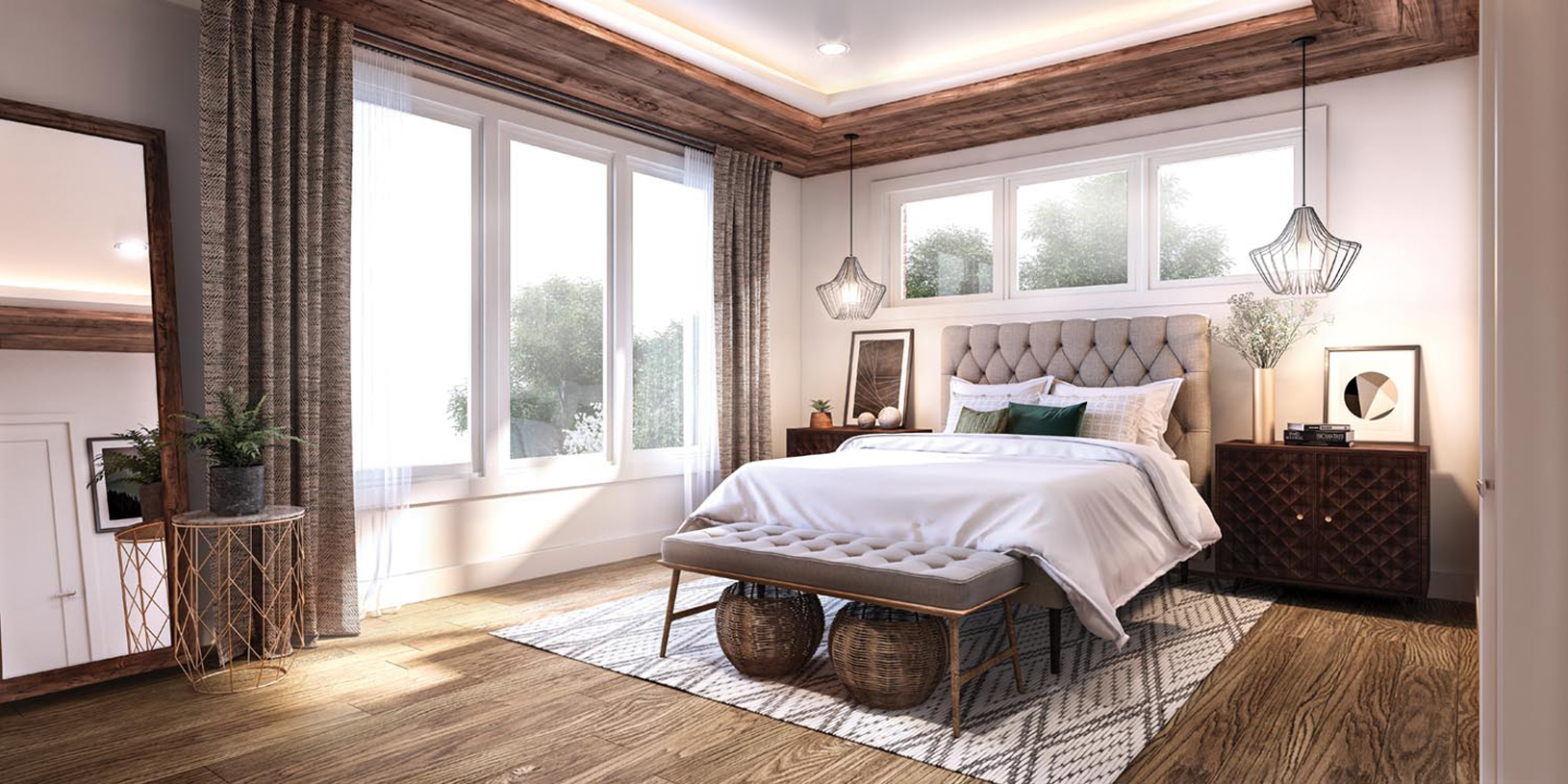 Spacious and luxurious primary bedroom suites