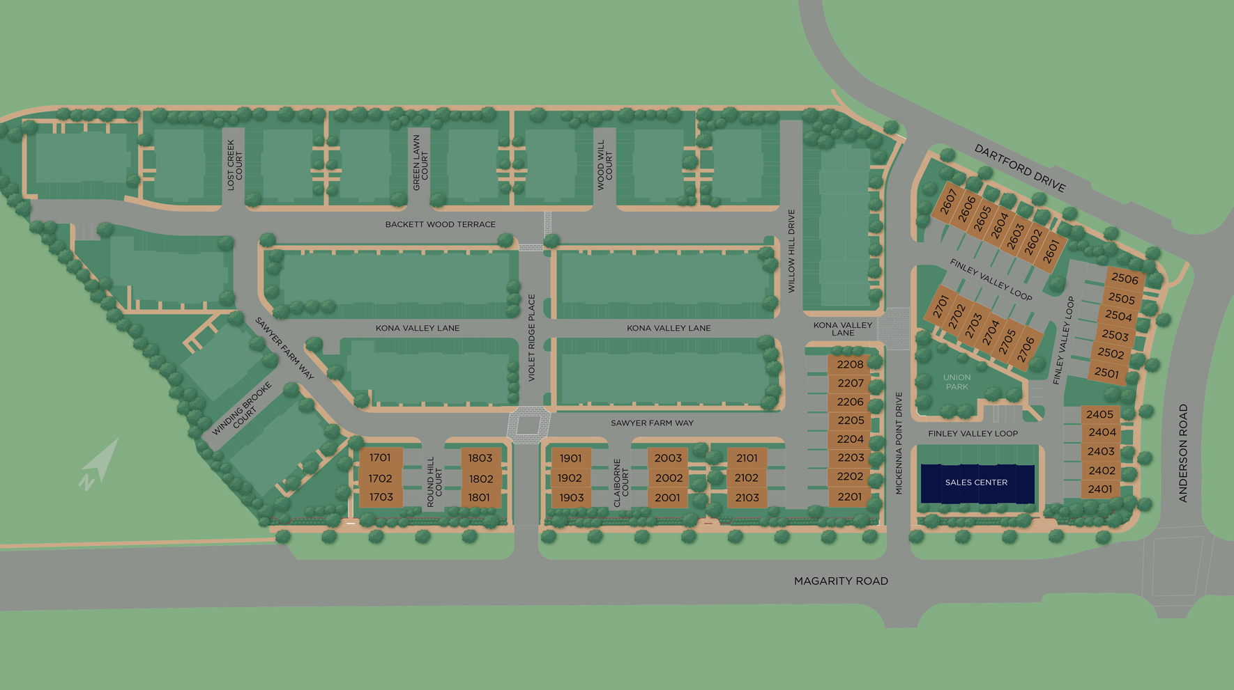 Union Park at McLean - The Brownstones Site Plan