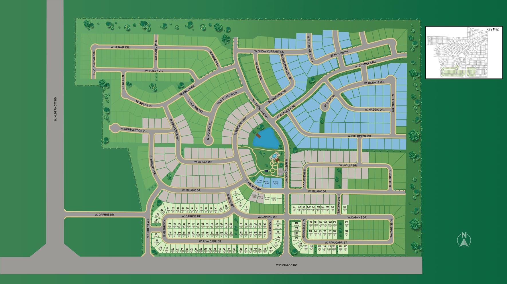 The Oaks North - Garden Site Plan