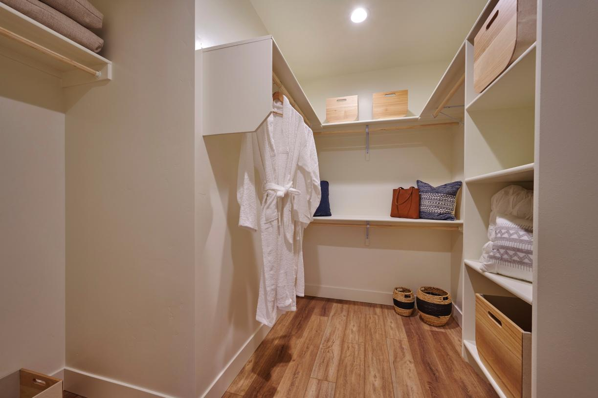Expansive primary walk-in closet