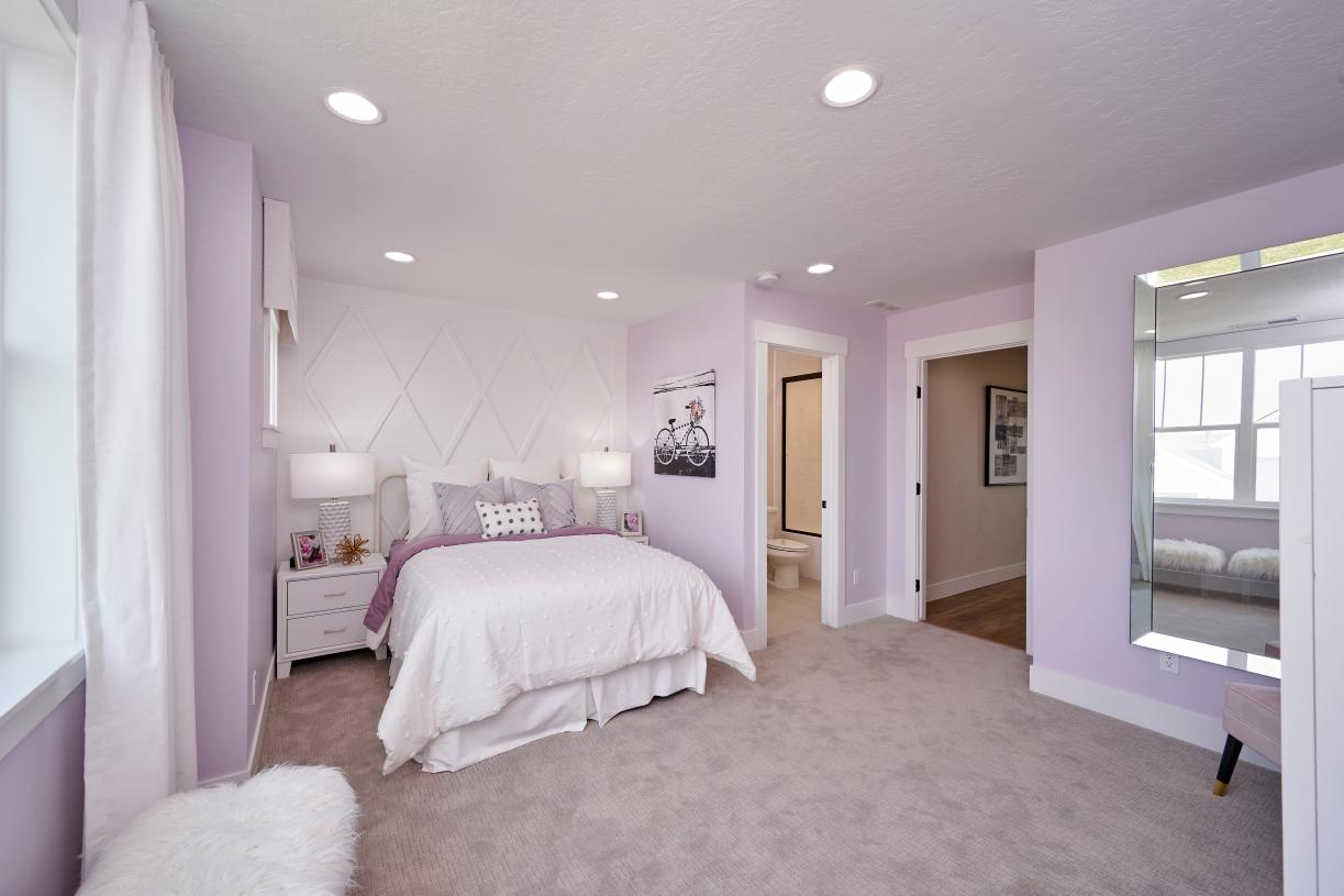 Secondary bedroom with full bath