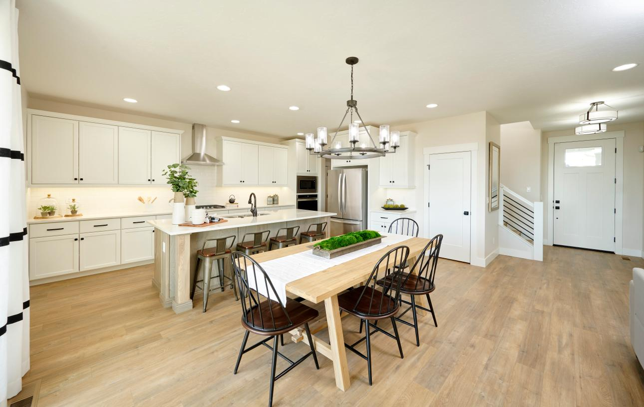 Spacious kitchen and formal dining