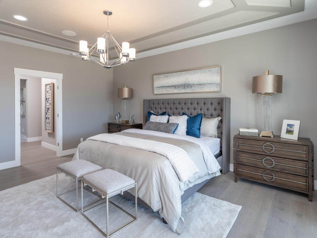 Private primary bedroom suite for quiet rest and relaxation