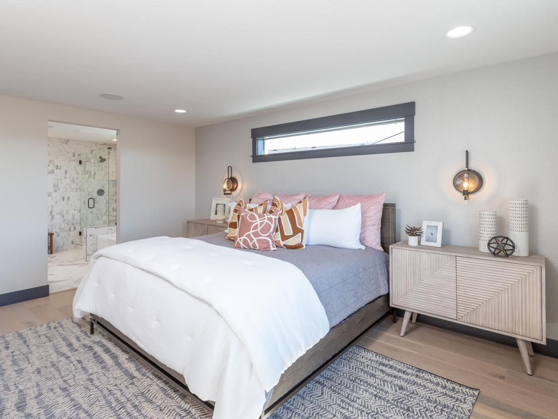 Luxury primary bedroom suite