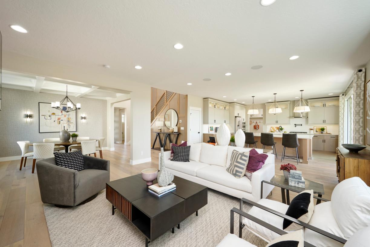 Expansive family great room