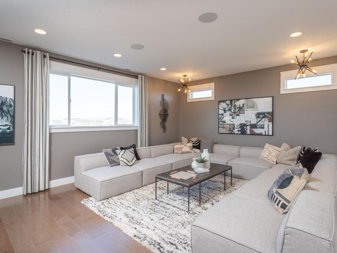 Upstairs flex room for extra family space