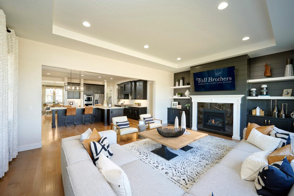 Inviting living room with gas fireplace
