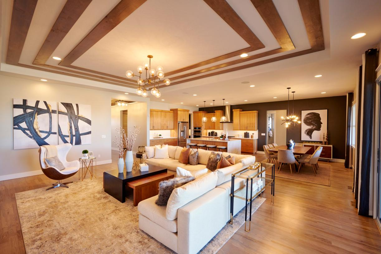 Expansive great room for family gatherings