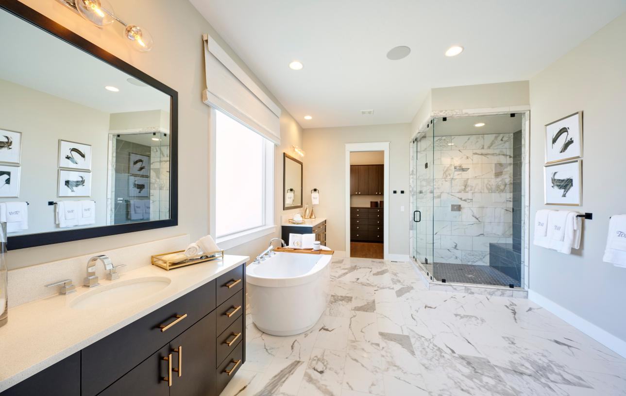 Relaxing primary bathroom