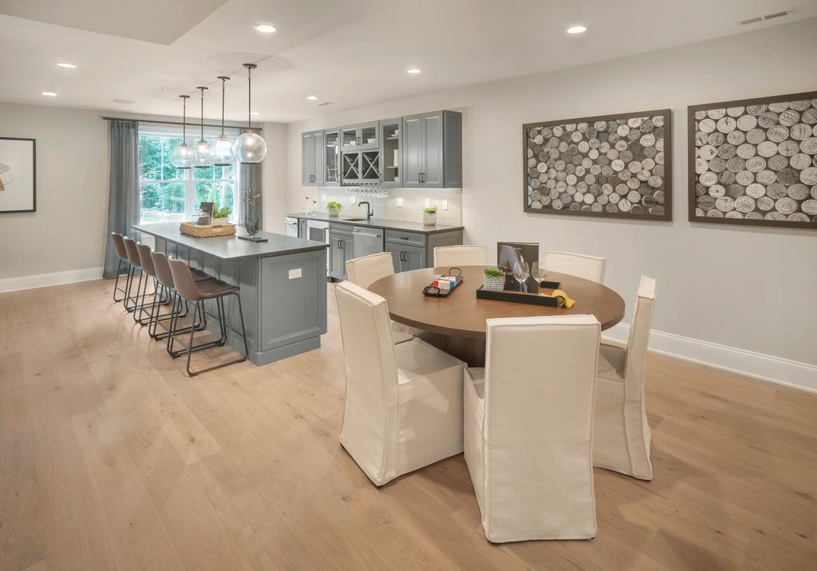 Finished lower level with wet bar - perfect for entertaining