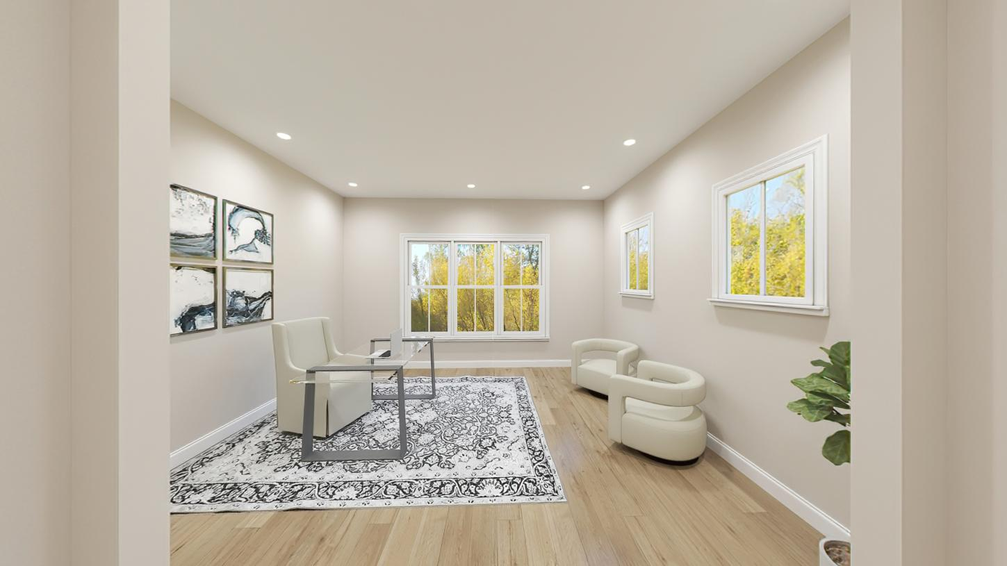 First-floor office for an ideal space to work from home