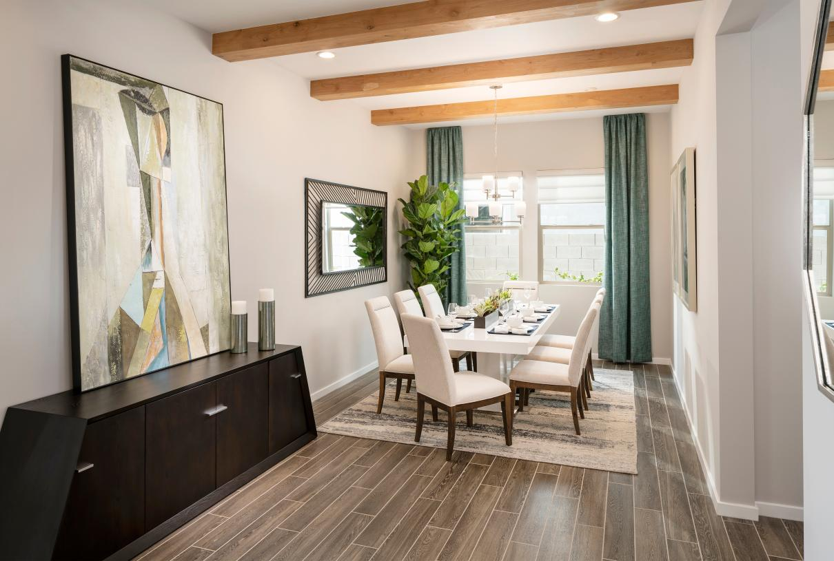Casual dining areas adjacent to kitchen