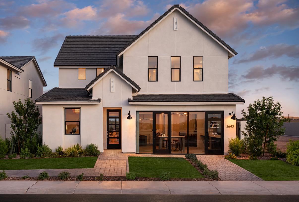 Peletier Contemporary Farmhouse front exterior design