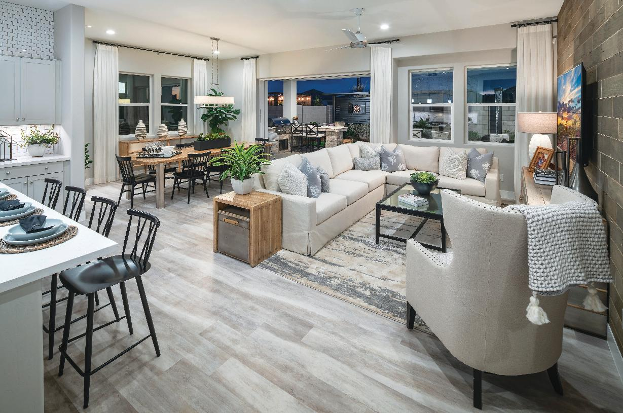Open-concept great rooms ideal for entertaining