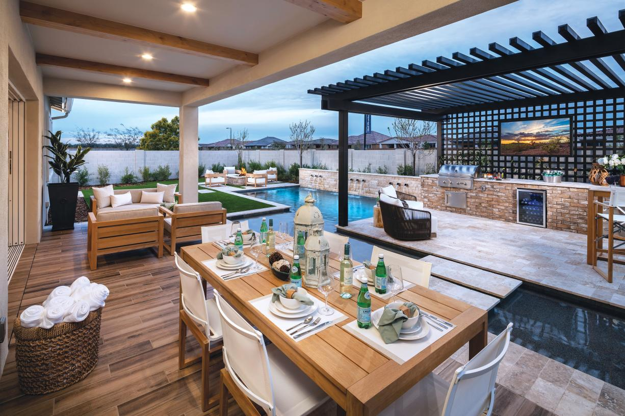 Extended covered patios for outdoor dining