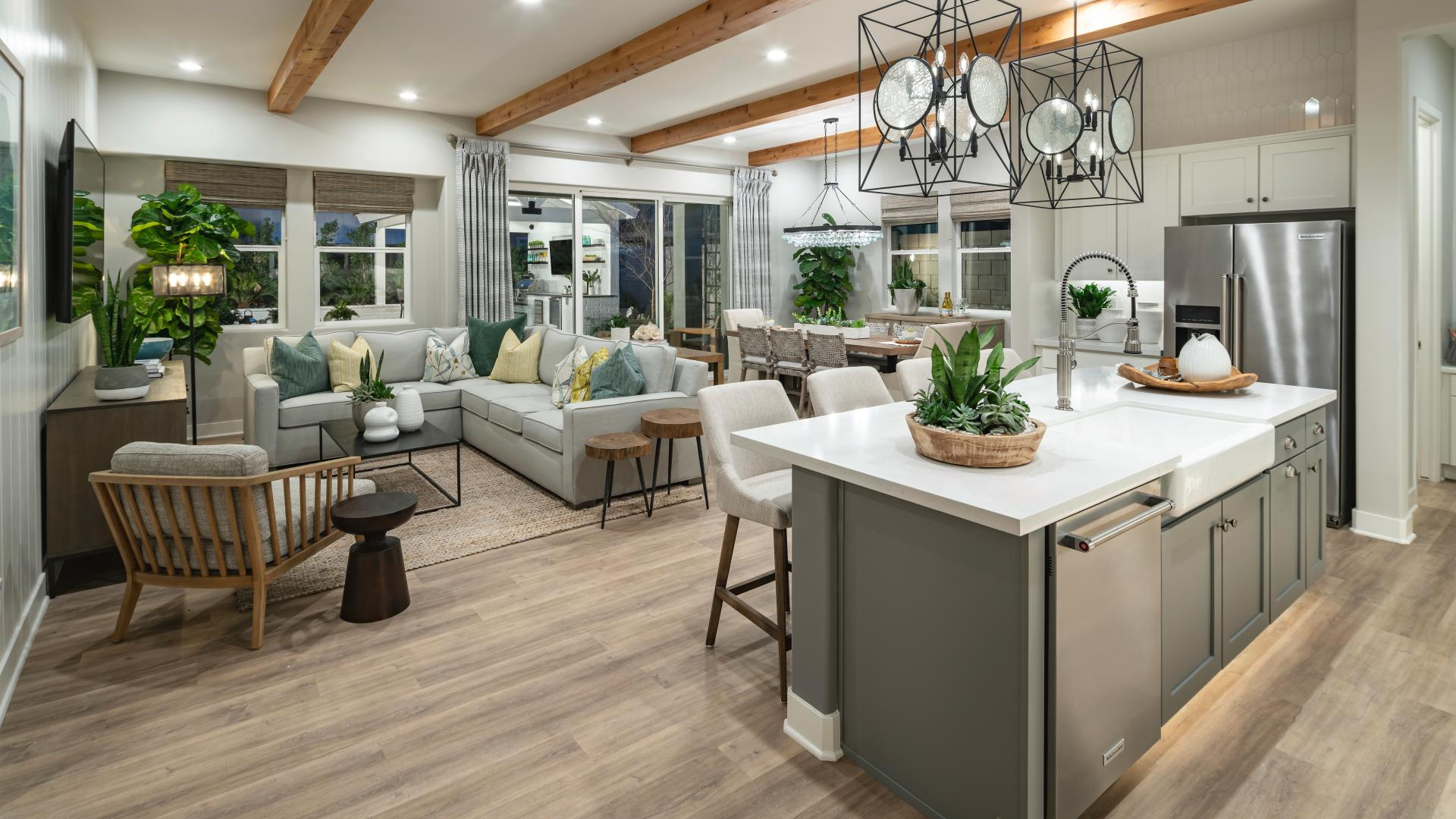 Open concept great rooms for entertaining