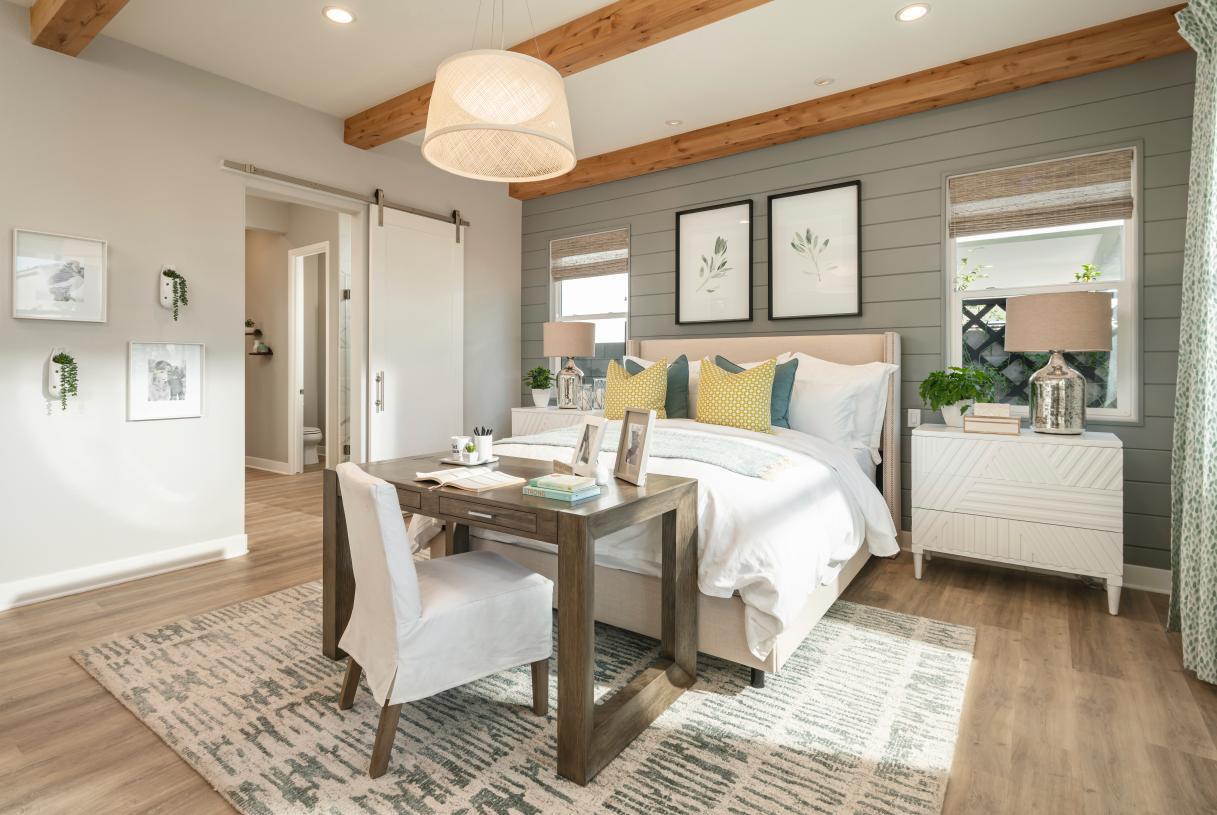 Relaxing primary bedroom suites