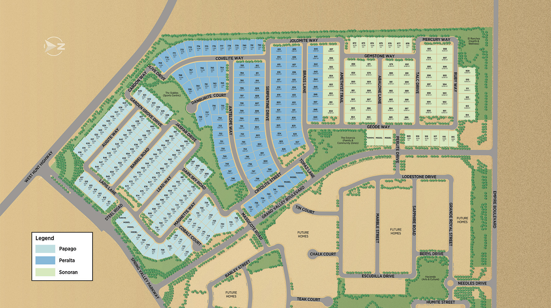 Preserve at San Tan Phase 1 Site Plan