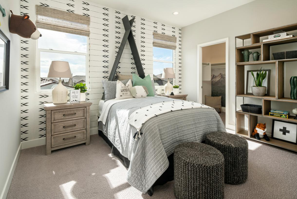 Spacious secondary bedrooms with walk-in closets