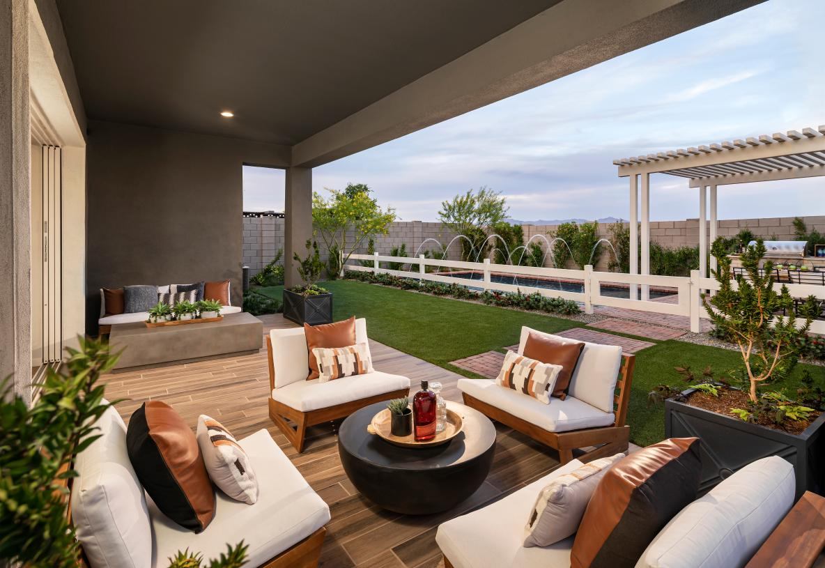 Extended covered patios for outdoor living and entertaining