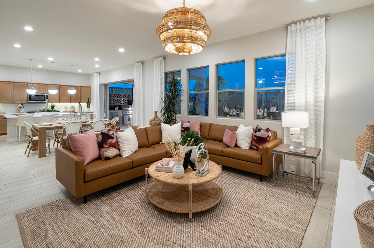 Spacious great room ideal for entertaining